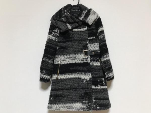 EPOCA(エポカ) コート サイズ38 M レディース 黒×グレー×白 ニット/冬物