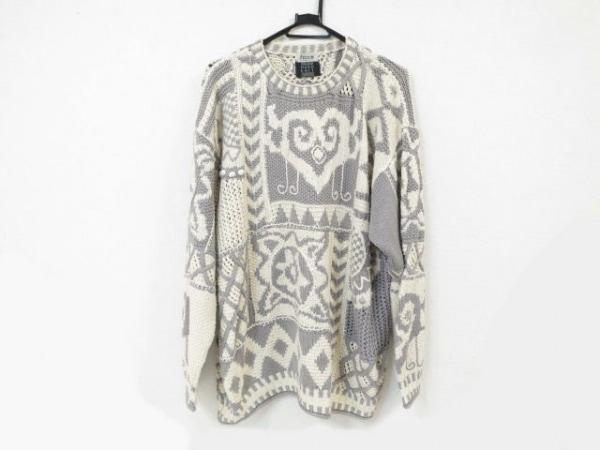 FICCE(フィッチェ) 長袖セーター メンズ美品  アイボリー×ライトグレー