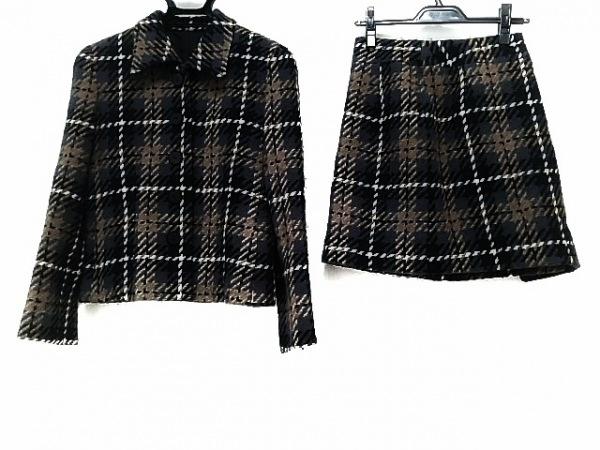 BODY DRESSING(ボディドレッシング) スカートスーツ レディース ブラウン×グレー×黒