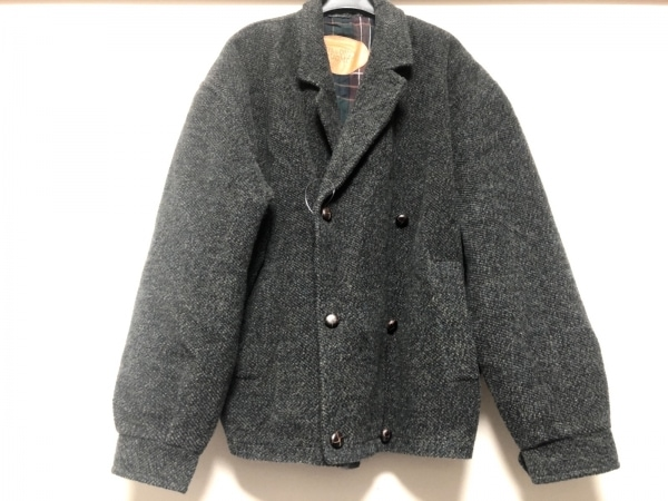 MISSONI(ミッソーニ) コート メンズ 黒×ブラウン×マルチ UOMO/ショート丈/冬物