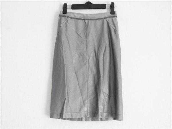 tomas maier(トーマスマイヤー) ミニスカート サイズI42 M レディース シルバー