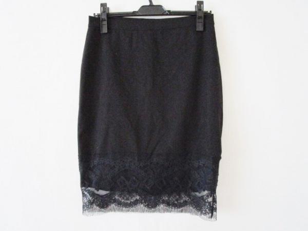 PAOLA FRANI(パオラ フラーニ) スカート サイズ40(I) M レディース美品  黒 レース