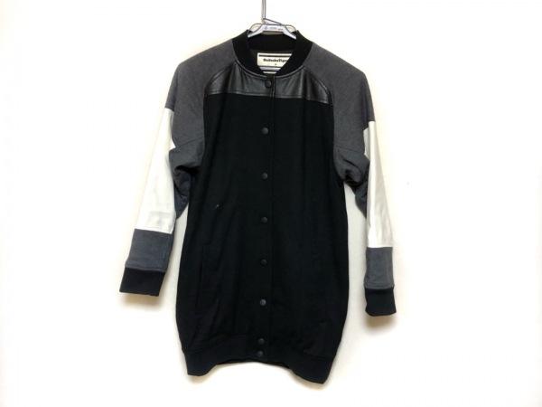 アンドレアポンピリオ コート サイズ38 M レディース美品  黒×グレー×アイボリー