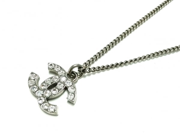 CHANEL(シャネル) ネックレス 金属素材×ラインストーン シルバー×クリア ココマーク