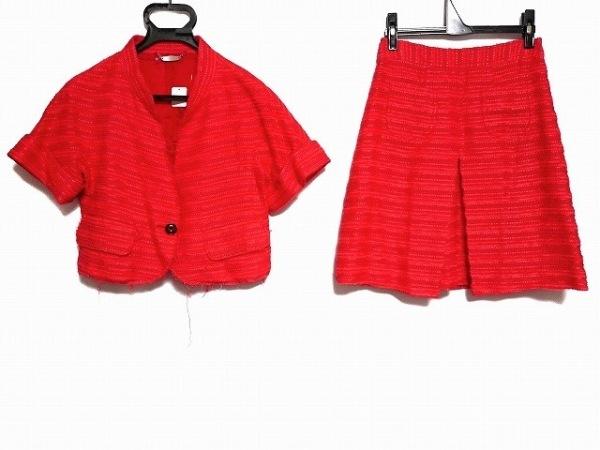 ケイタマルヤマ スカートスーツ サイズ1 S レディース美品  ピンク ダメージ加工/半袖