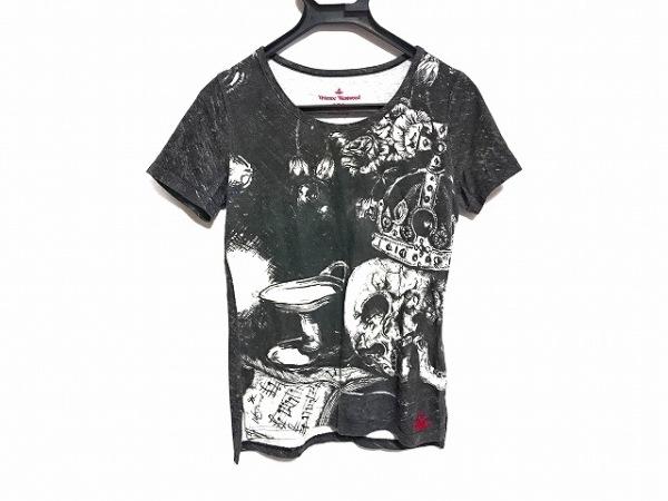 ヴィヴィアンウエストウッドレッドレーベル 半袖Tシャツ サイズ1 S レディース 黒×白