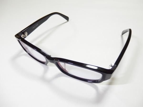 POLICE(ポリス) メガネ美品  VPL241J 黒×クリア プラスチック