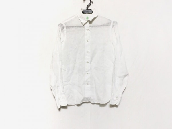 finamore(フィナモレ) 長袖シャツブラウス サイズ40 M レディース美品  白