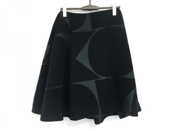 orla kiely(オーラカイリー) スカート サイズ10 L レディース 黒×ダークグレー