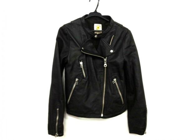 レイビームス ライダースジャケット サイズ1 S レディース美品  黒 レザー/春・秋物