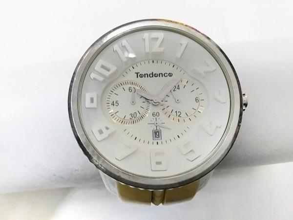 テンデンス 腕時計 ガリバーラウンド 02036013AA メンズ ラバーベルト/クロノグラフ