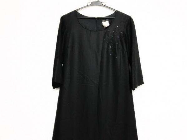 INDIVI(インディビ) ワンピース サイズ38 M レディース美品  黒 スパンコール/刺繍