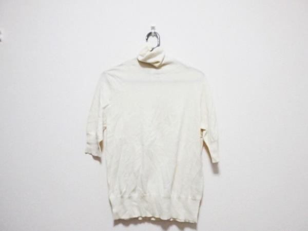 ラルフローレン 半袖セーター サイズ5 XS レディース アイボリー タートルネック/刺繍