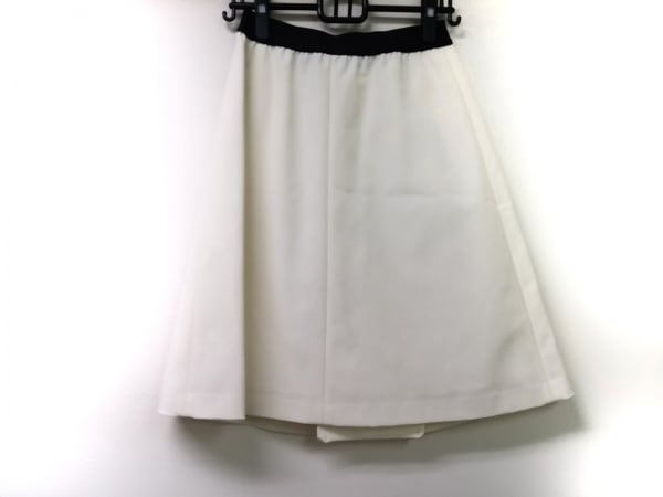 M・Fil(エムフィル) スカート サイズ36 S レディース 白×黒 ウエストゴム