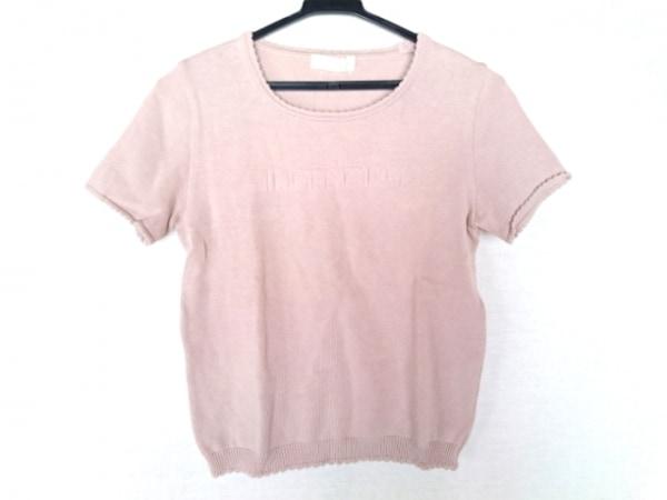 INGEBORG(インゲボルグ) 半袖セーター サイズM  M レディース ピンク フリル