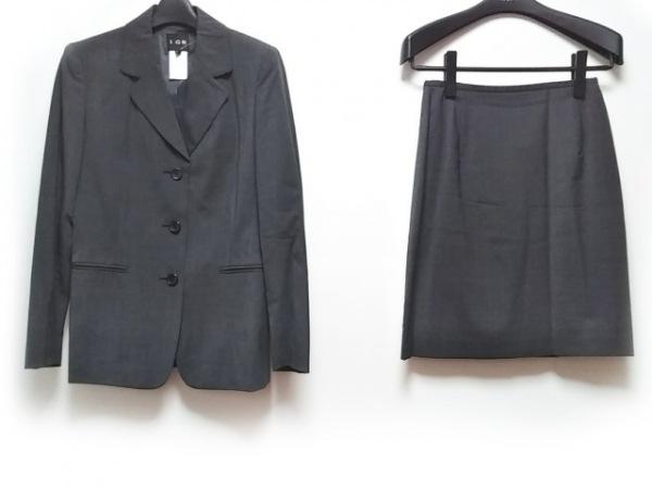ICB(アイシービー) スカートスーツ レディース ダークグレー