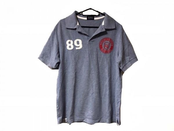 パーリーゲイツ 半袖ポロシャツ サイズ6 メンズ美品  ライトブルー×レッド×白