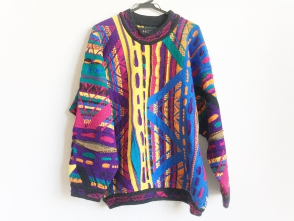 COOGI/CUGGI(クージー) 長袖セーター サイズM メンズ イエロー×ブルー×マルチ