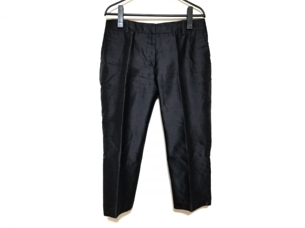 アレキサンダーマックイーン パンツ サイズ42 XL レディース 黒 シルク