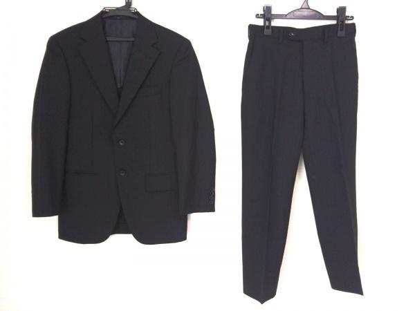 INHALE EXHALE(インヘイルエクスヘイル) シングルスーツ メンズ 黒 ストライプ