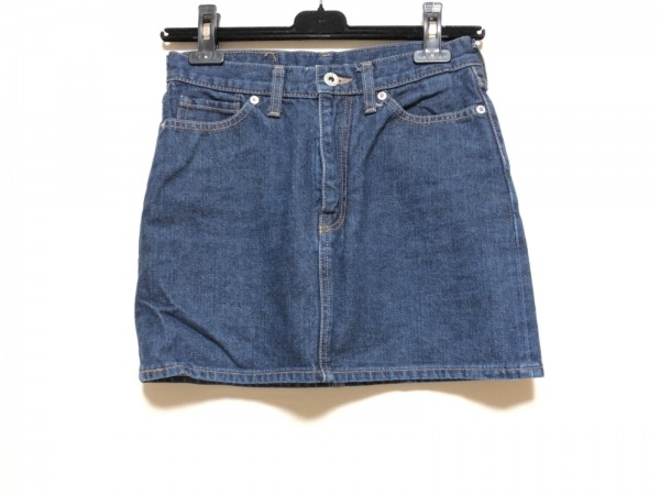 BAPE(ベイプ) ミニスカート サイズXXS XS レディース ネイビー デニム