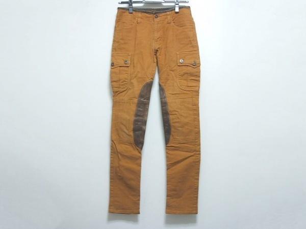マックスフリッツ パンツ サイズ38 M レディース オレンジ×ダークブラウン femme