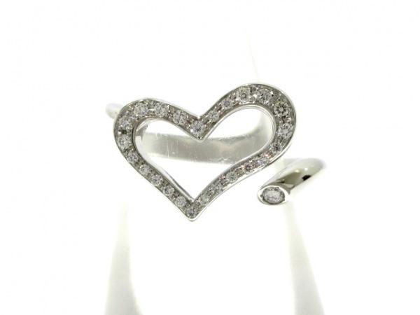PIAGET(ピアジェ) リング 48美品  ライムライト K18WG×ダイヤモンド ハート
