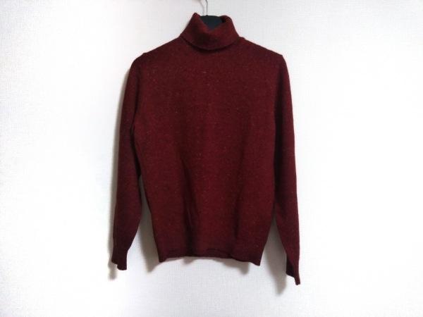 ドルモア 長袖セーター サイズ48 XL レディース美品  レッド×オレンジ×マルチ