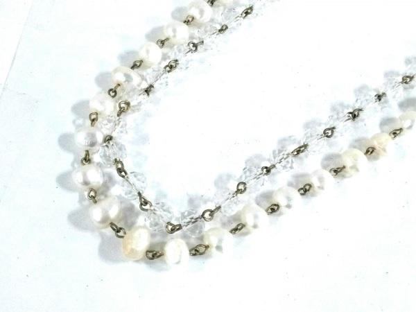 Shu mu(シュム) ネックレス美品  金属素材×プラスチック×フェイクパール