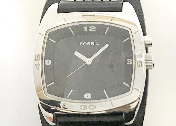 FOSSIL(フォッシル) 腕時計 AM-3696 メンズ 革ベルト 黒