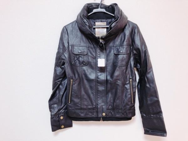 ブージュルード ブルゾン サイズ38 M レディース美品  黒 フェイクレザー/冬物
