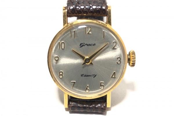 GRACE(グレース) 腕時計 Citizen17g - レディース 革ベルト シルバー
