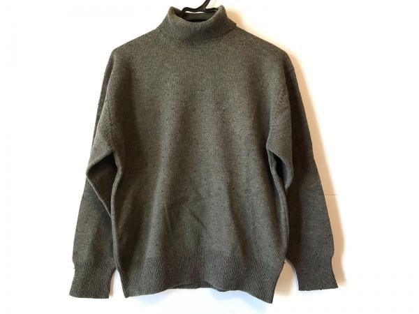 コムデギャルソンオム 長袖セーター メンズ美品  カーキ×ブルー×ライトブラウン