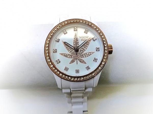 ヴァベーネ 腕時計 - ボーイズ Italy/ラインストーン アイボリー×ゴールド×クリア
