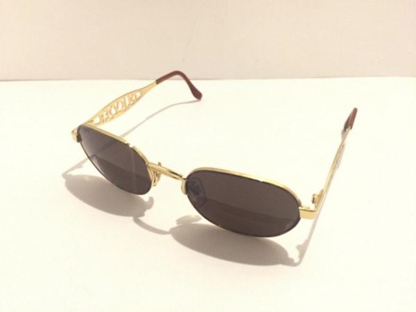 オリバーバレンチノ サングラス ダークブラウン×ゴールド 金属素材×プラスチック