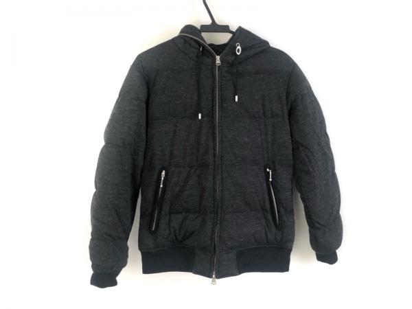 ビームス ダウンジャケット サイズS メンズ美品  ダークグレー×グレー×黒 冬物