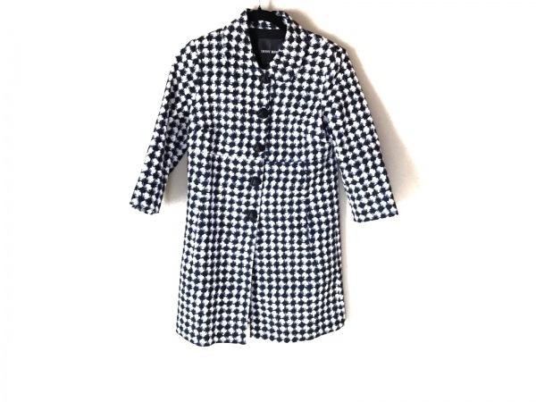 デニーローズ コート サイズ42 L レディース美品  白×黒×ブルー 春・秋物/ハート