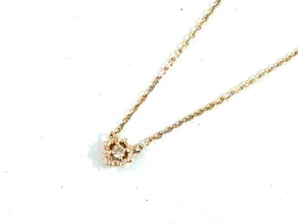 NOJESS(ノジェス) ネックレス美品  K10×ダイヤモンド K10YG 1Pダイヤ/0.015カラット