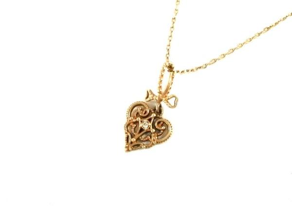 NOJESS(ノジェス) ネックレス美品  K10×ダイヤモンド×プラスチック K10YG×マルチ