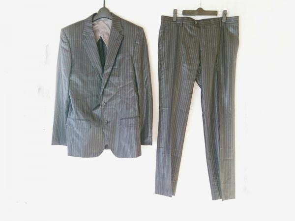 COMME CA COLLECTION(コムサコレクション) シングルスーツ サイズLL メンズ 黒×白
