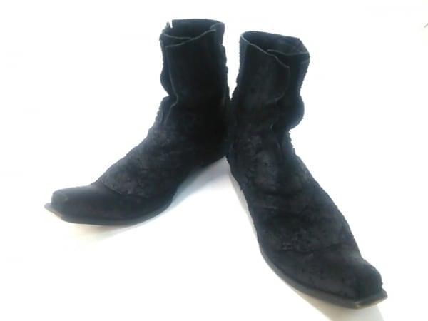 aba'ca(アベイカ) ショートブーツ 41 メンズ 黒 化学繊維