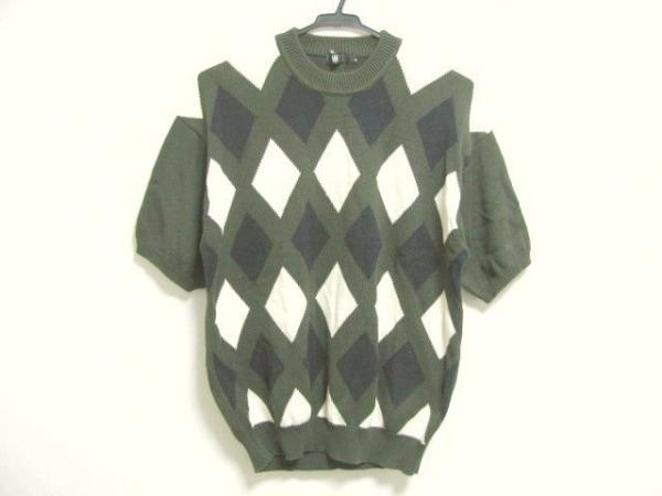イッセイミヤケデザインスタジオ 半袖セーター サイズM M メンズ アーガイル柄
