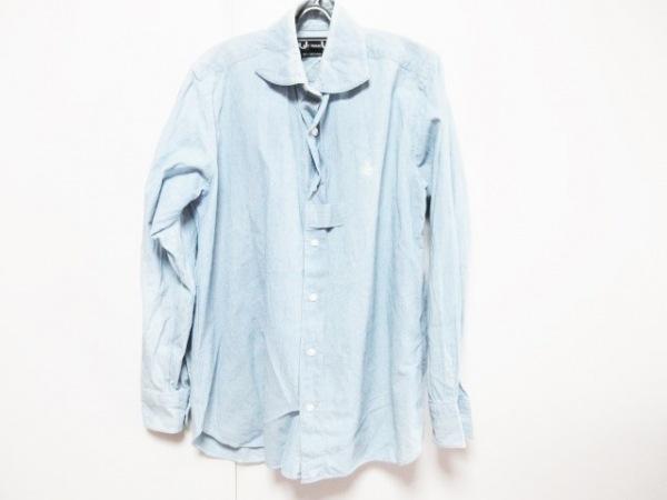 YAMANE(ヤマネ) 長袖シャツ サイズ40 M メンズ ライトブルー HIDEHIKO YAMANE
