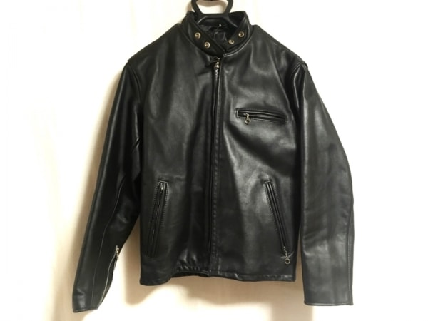 schott(ショット) ライダースジャケット サイズ40 M メンズ 黒 レザー/冬物