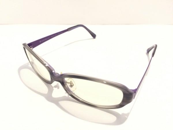 eyebrella(アイブレラ) メガネ美品  EB-08 ダークグレー×グレー×パープル
