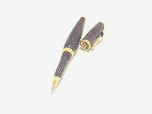 バレンシアガライセンス ボールペン美品  ダークブラウン×ゴールド インクなし