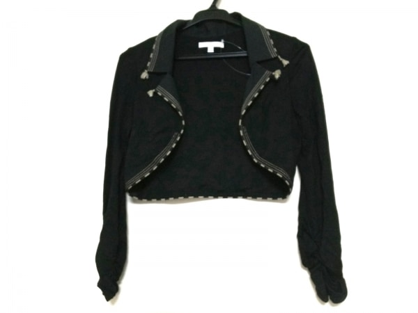 PAULEKA(ポールカ) ジャケット サイズS レディース 黒×ベージュ ショート丈