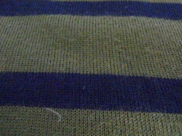 ミュベールワーク 長袖セーター サイズ38 M レディース カーキ×ダークネイビー×黒