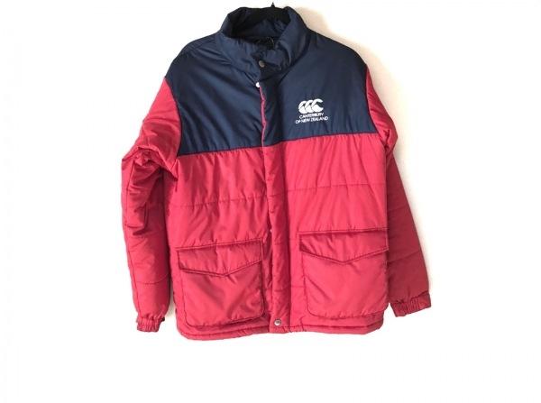 CANTERBURY(カンタベリー) ダウンジャケット サイズL メンズ レッド×ネイビー 冬物