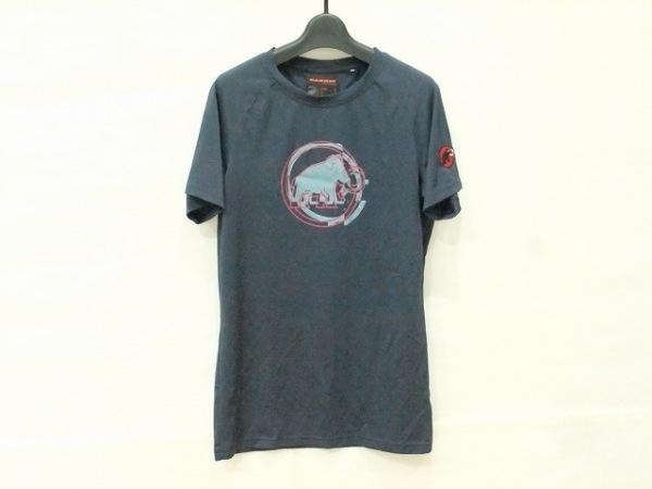 マムート 半袖Tシャツ サイズM レディース ダークネイビー×ライトブルー×ボルドー